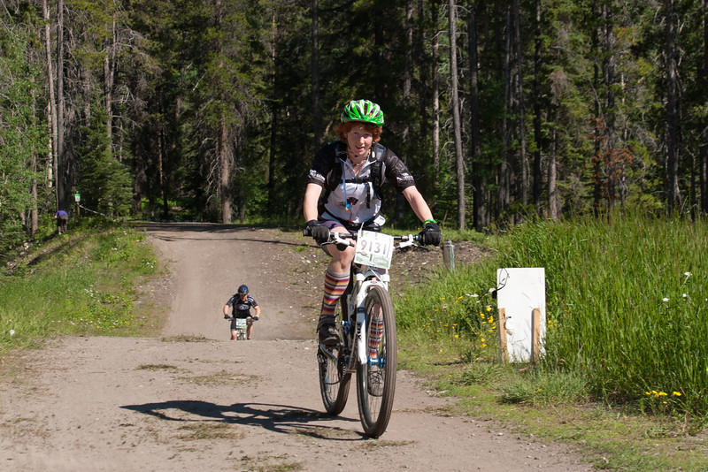 <b>24 July 2011</b> Riding past camp, slightly past half-way round the course