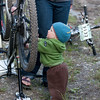 <b>23 July 2011</b> Finn plays with the bikes