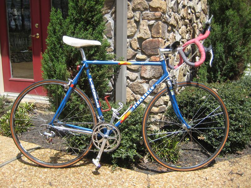 Pinarello, vintage, built to run old style.