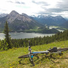 <b>16 June 2012</b> We were going to bike Kananaskis 8, but ended up doing Prairie View, and then Razor's Edge.  The view from the top of Prairie View, on Barrier Mountain