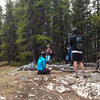 <b>26 May 2012</b> Waiting on the top of Stoney Squaw - Melissa, Kim, Bob, Frank, Nick