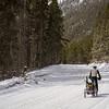 <b>22 March 2013</b>  Snow biking Goat Creek - still heading up Whiteman's Gap