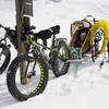 <b>22 March 2013</b>  Snow biking Goat Creek - switching from wheels to ski runners at the start of the Goat Creek trail