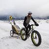 <b>22 March 2013</b>  Snow biking Goat Creek - still going up the hill