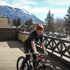 <b>18 March 2014</b> Testing out the new bike on the balcony