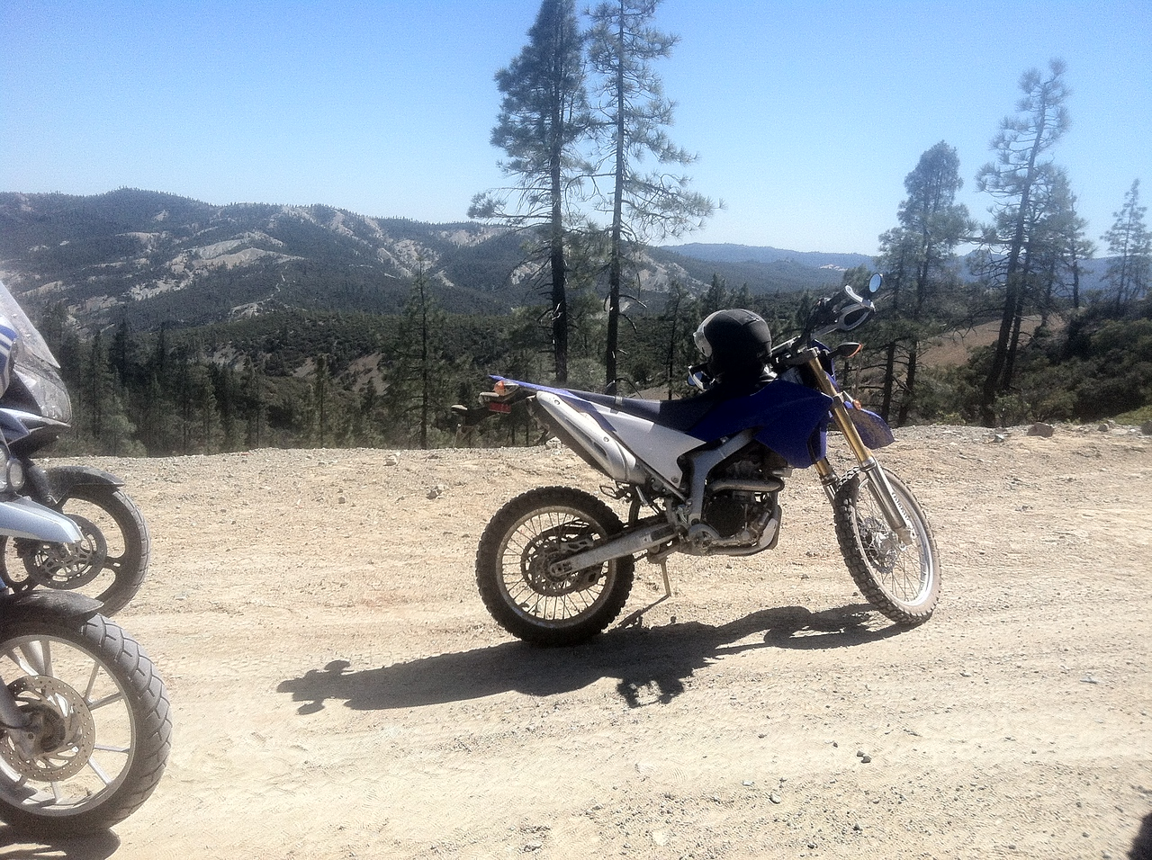I'm back on motorcycles after almost 6 years off.  This is my 2012 Yamaha WR250R.  Street legal but designed with off-pavement riding in mind.  I'm amazed at how much this bike can do.