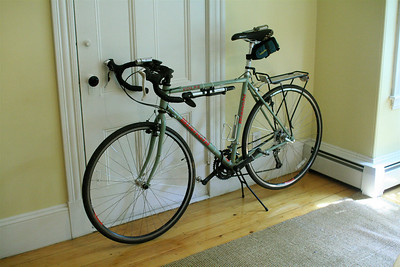 A Bianchi Volpe, my 'everybike'.  I bought it as a fast commuter, but I've ended up doing all sorts of stuff on it -- lots of recreational riding, a couple of centuries, and even some mountain biking (but not with the tires in this picture).  If I could only have one bicycle, this would be it.