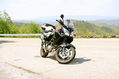 My second motorcycle, a 2005 Suzuki V-Strom 1000.  Despite its inclusion in this gallery, I didn't really love it.  After less than a year, I impulsively replaced it with an SV650.  The SV was loads of fun, but after a couple of months, I wrecked it.  I'd been gradually converting from pistons to pedals, and the loss of the SV was the last straw.