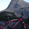 Bike and Ha Ling Peak from Whiteman's Gap