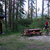 Riding home from work - reaching the end of the Banff Trail at the Nordic Centre.