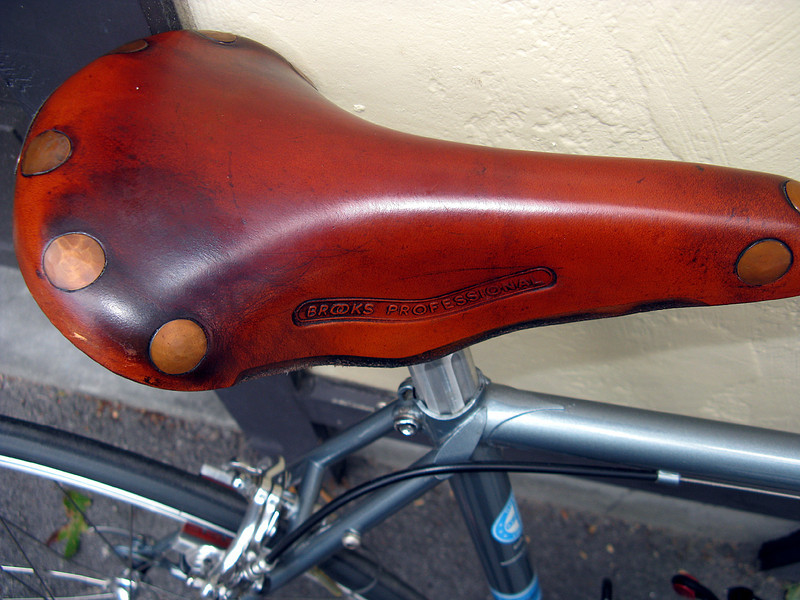 Brooks Professional on my Schwinn Super-Sport