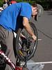 Rich gets his bike ready for the Urban Polaris