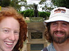 Megan and Alex, tourists at the Dog on the Tuckerbox