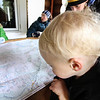Finn helps us checking out the map (he was pretty insistent about there being choo-choos on it)