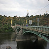 <b>13 Sept</b> Vltava River, Prague - giant metronome ticking on the hillside in the distance