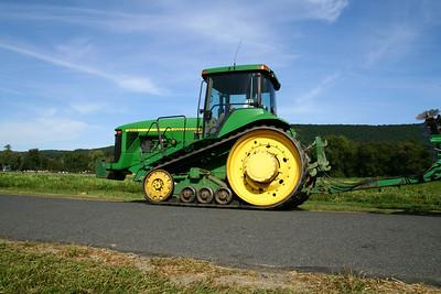 While I waited:  A John Deere Medium Assault Tractor.