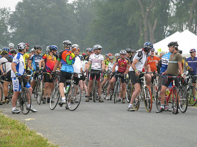 Mychau took this photo of riders lining up for the 100km start.