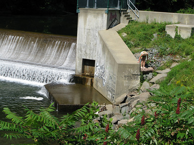 One of the dams that Mychau and Co. passed.