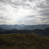 <b>6 Oct</b> The view south from the top of our mountain, looking back towards the Alps.