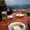 <b>6 Oct</b> Apple Strudel and Radler with Alex, Rich and Karin after hiking up a mountain in Southern Germany