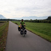 <b>5 Oct</b> Quiet bike/farm paths, and the Alps in the background