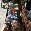 <b>7 Oct</b> Alex napping on a bench by the Bodensee