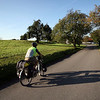 <b>7 Oct</b> Riding away through the Southern German foothills in the sun the next morning