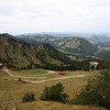 <b>6 Oct</b> The view north from the top of our mountain, looking further into Germany