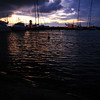 <b>27 Aug</b> Dusk in the harbour (there was a really cheap great little campground based in the harbour)