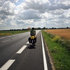 <b>14 July</b> Out on the open road with a lovely piece of shoulder all of our own
