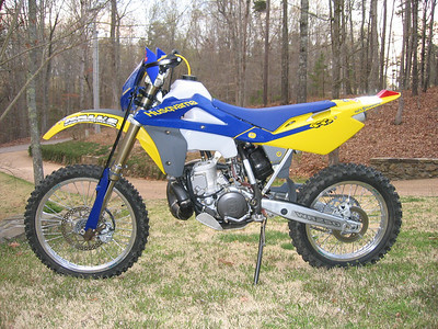 2006 Husky WR250. My favorite in the woods. With less than 250lbs and nearly 50HP, this thing is fun when you're feeling fast.