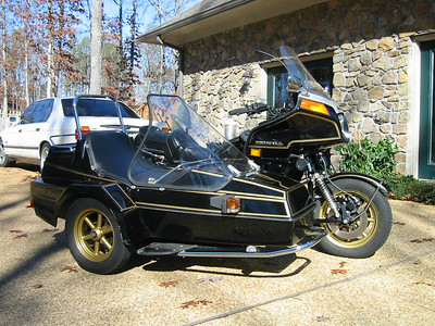 1980 Honda 1100 Goldwing, modified to take an EML sidecar rig. Fun stuff.