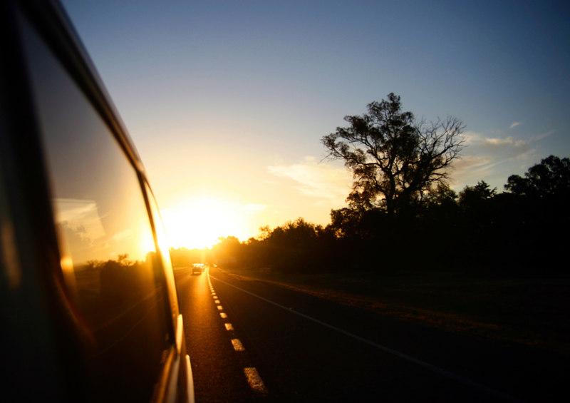 "The van racing away from the setting sun <br>© <a href=""http://wormz.smugmug.com"">Corey Putkunz</a>"