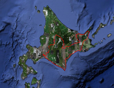 Our full cycle route through Hokkaido, starting and finishing at Sapporo airport