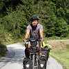<b>26 Sept</b> Alex as we head into the Alps (note the beard getting alarmingly large)