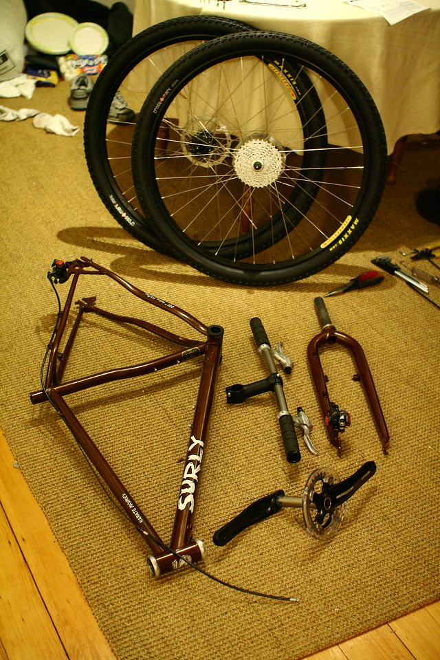 After the test ride, it was time to take it apart, again...