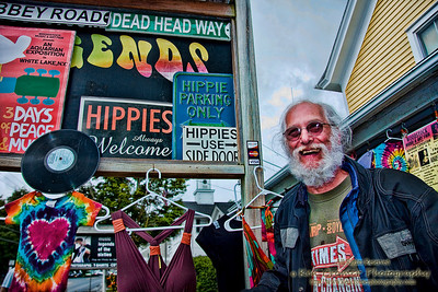 Old Man Hippie in Woodstock New York