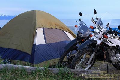 Camping on the beach in Homer Alaska