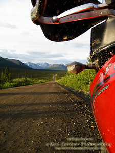 Denali Highway, Alaska.  130 miles and 100 of it is dirt and gravel.  Better go in prepared or suffer the consequences.  Oh, and better top off cause there's no gas anywhere except the begining and the end.