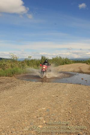 Service road to Denali Park, Alaska.