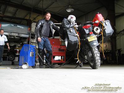 Getting a new battery in Soldotna, Alaska