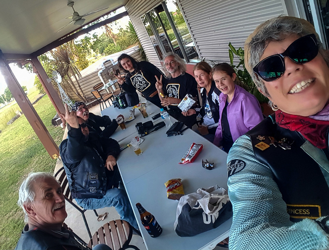 iPhone photo taken by Princess during the Steel Horses Poker Run (West Ride) on Sunday 30th April 2017.