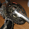 Shimano cranks with chain-rings bolted (indicating quality) rather than riveted (often done on low-end gear)