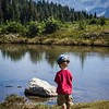 <b>26 July 2013</b> Frisby Ridge - Finn decides the lake is a bath