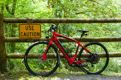 """This is my new Specialized Turbo. It has a lithium battery and a motor in the rear hub. The pedal assist helps up to 27.5 mph. There are two assist modes - full turbo and """"eco mode"""". I have eco mode set to 30% assist. The bike has a regen node to allow charging when going down hill."""