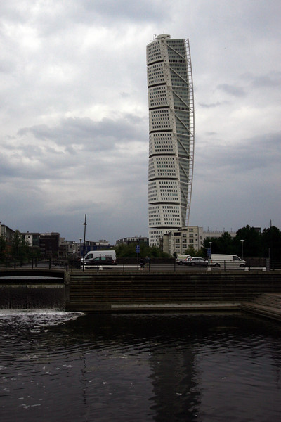 The Twisting Torso in Malmo, Sweden (I think it's supposed to be the Turning Torso, but Twisting sounds much better)