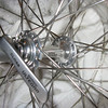 """Crow's-Foot"" or hybrid lacing on a 36-hole Shimano Ultegra small-flange hub"