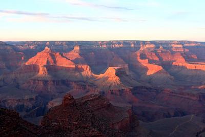 Sunset by Grand Canyon Village
