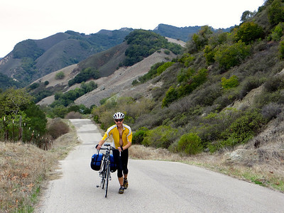 Santa Rosa Creek Rd: some steep sections