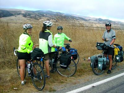 John, riding from Canada to South America  http://www.crazyguyonabike.com/doc/cyclemonkeyexpedition